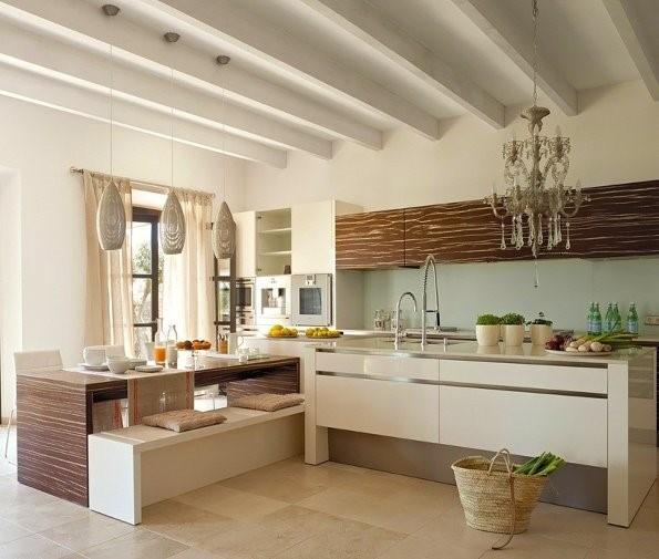 地中海风格厨房吧台设计