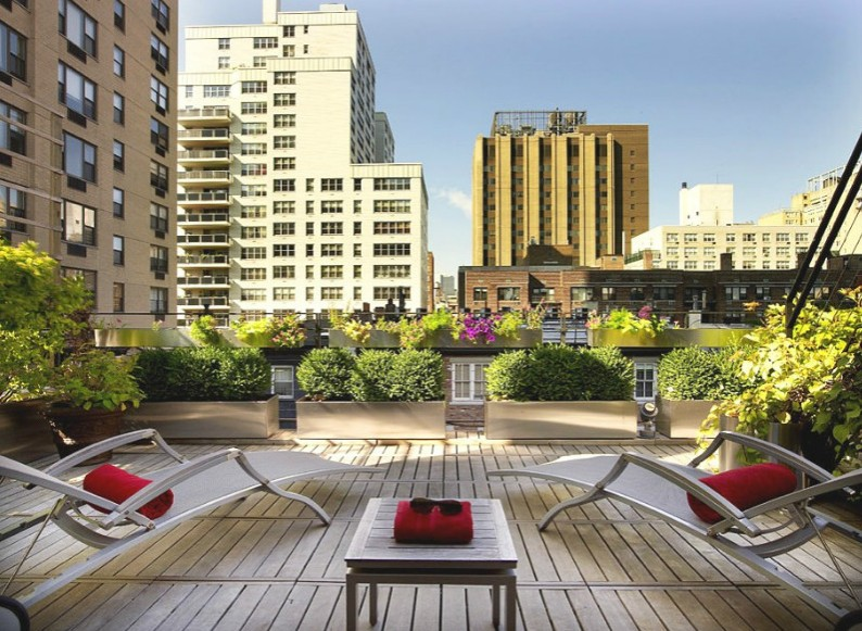 现代都市露天阳台效果图