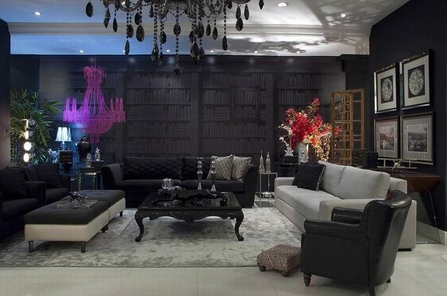 摩登深色系打造后现代公寓设计
