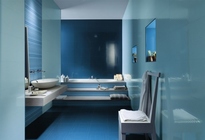 藍色地中海風格衛生間裝飾圖