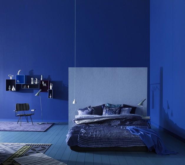 地中海風格深藍色臥室效果圖