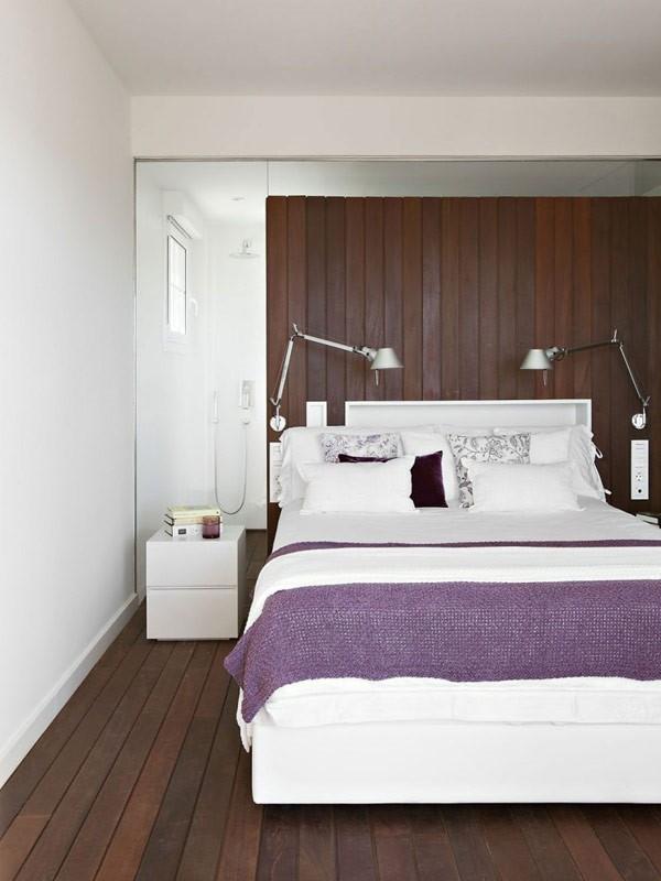 復古簡歐臥室床頭背景墻設計