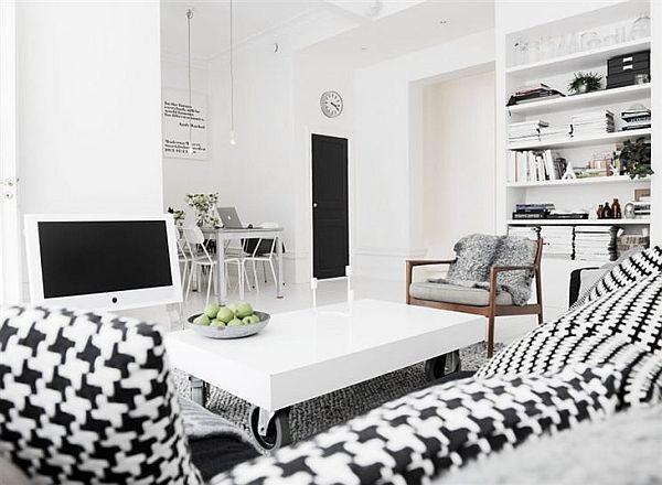 簡潔波普風 黑白公寓效果圖