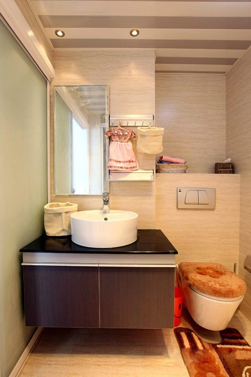 现代简约风浴室洗手台设计_装修百科