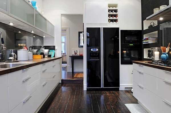 黑白簡歐廚房設計效果圖