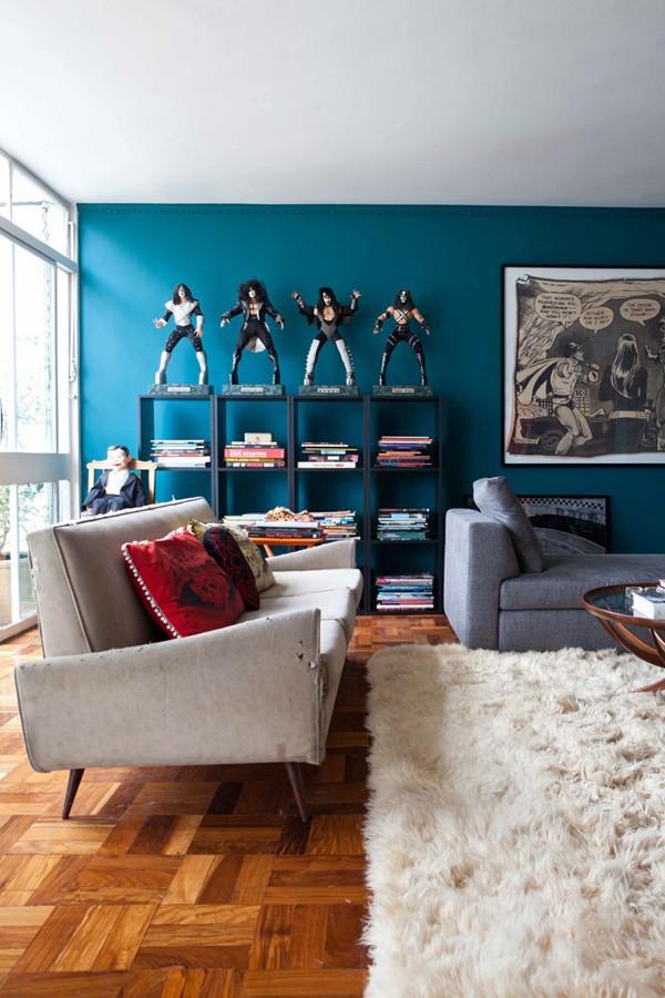 浓彩混搭风格打造多元素公寓