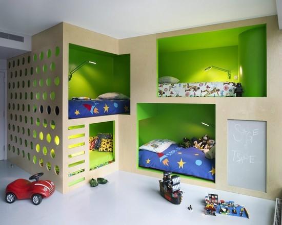 色彩鲜明家装儿童房装饰鉴赏