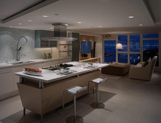 時尚現代開放式廚房設計
