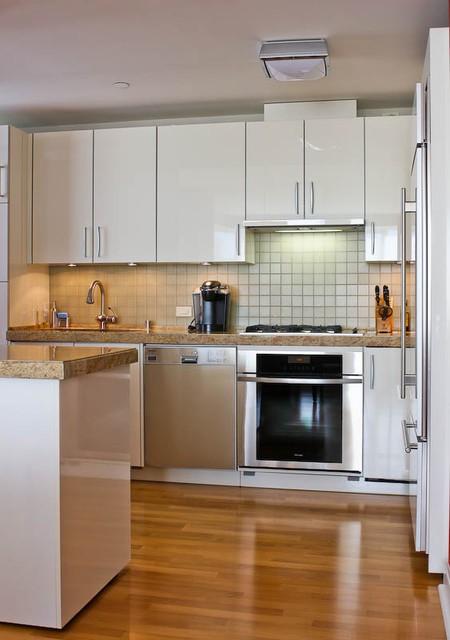 现代简约风厨房 不锈钢橱柜设计图