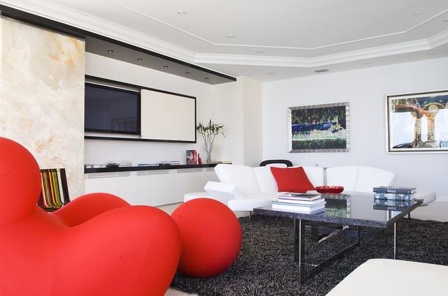 现代简约风客厅电视背景墙欣赏