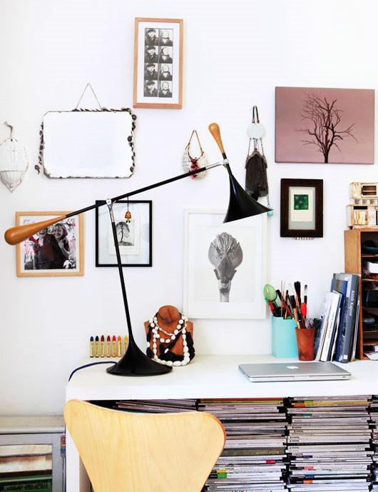 简约风格书房照片墙装修效果图