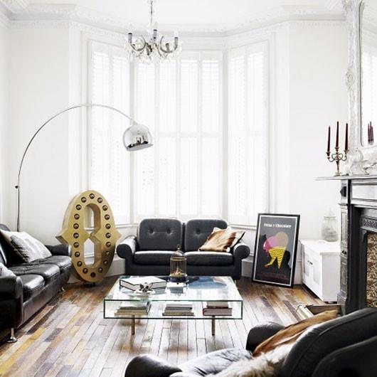 簡歐工業風混撘 黑色系公寓效果圖