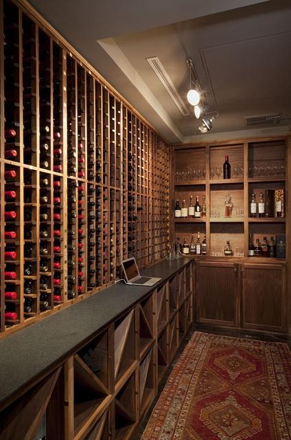 美式风格酒窖酒柜设计图