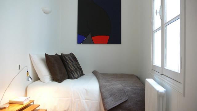 温馨简约风格单身公寓效果图