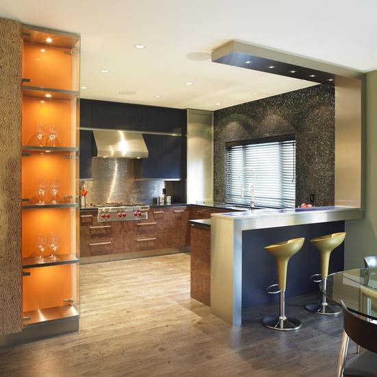 地中海风格厨房吧台隔断设计