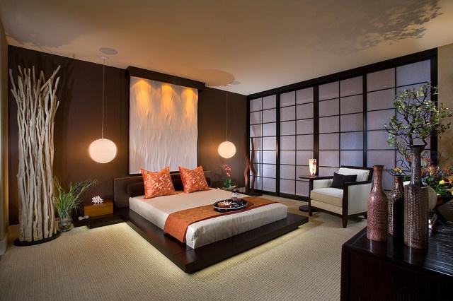 高端日式和风 榻榻米卧室效果图