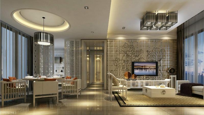 奢华唯美新中式别墅装潢图