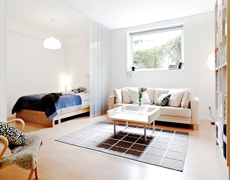 45平自然北欧风 单身公寓效果图