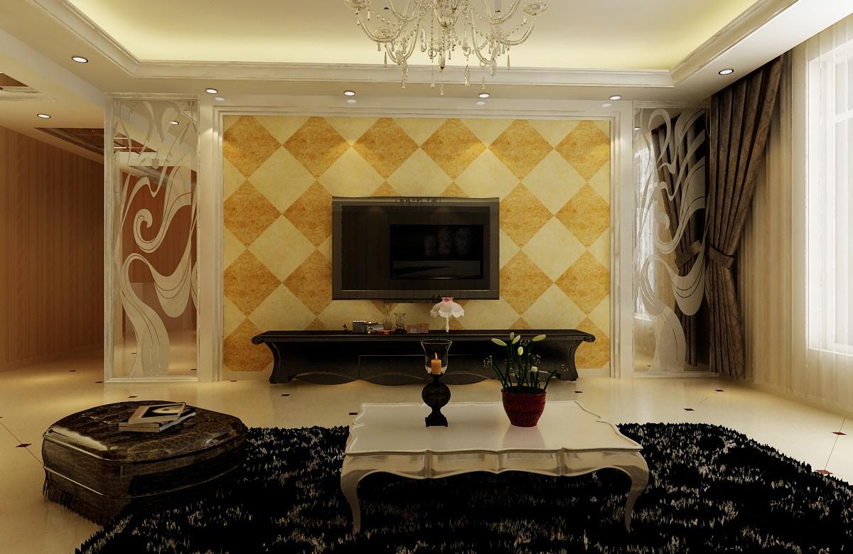 奢华欧式新古典 三室两厅效果图