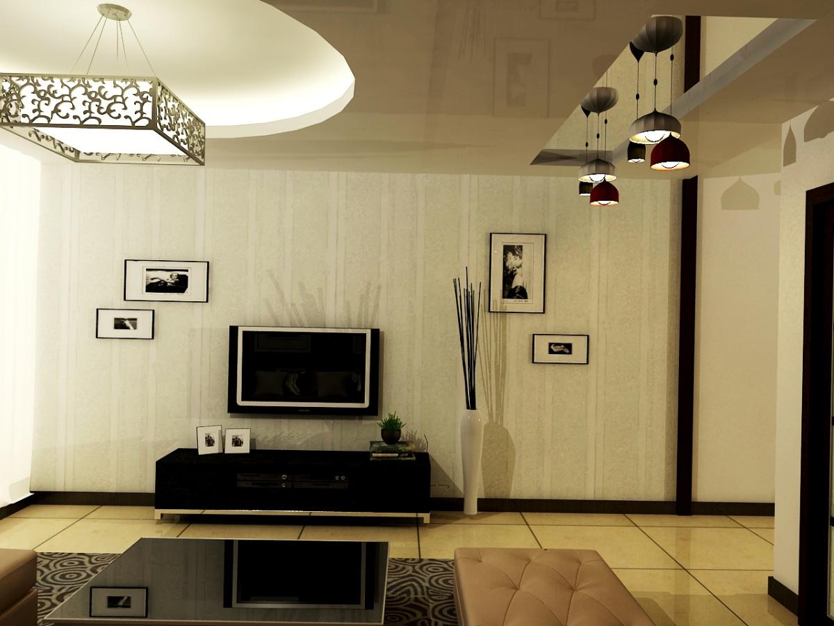 58平中性色簡歐風 兩室兩廳樣板房