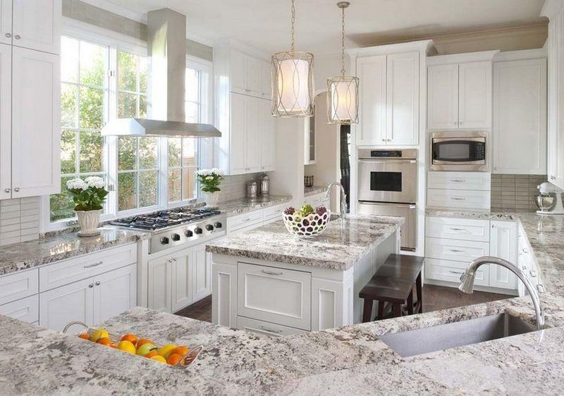 明亮简欧风别墅厨房带中岛设计