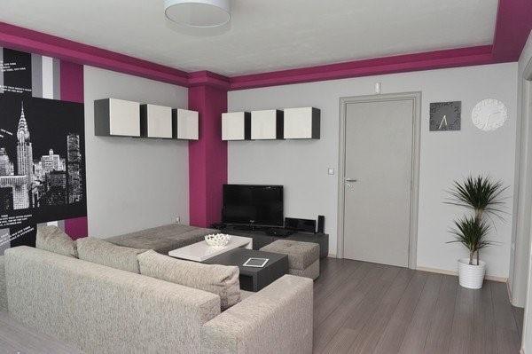 紫色客厅吊顶装修设计效果图-客厅不吊顶装修效果图