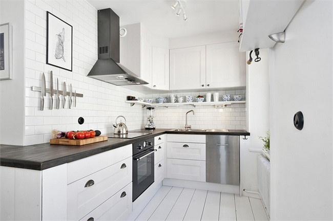 清爽简洁北欧风厨房效果图