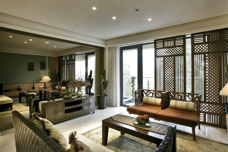 古典中式田园风客厅装饰大全
