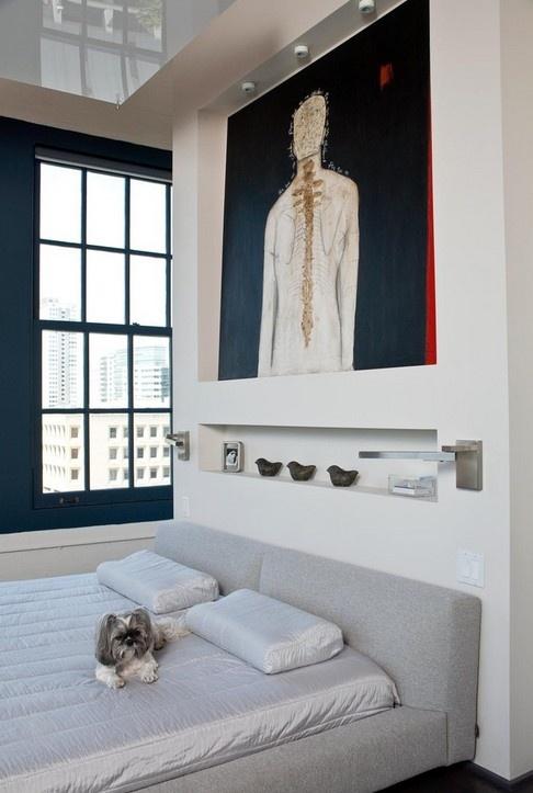 臥室床頭背景墻設計效果圖