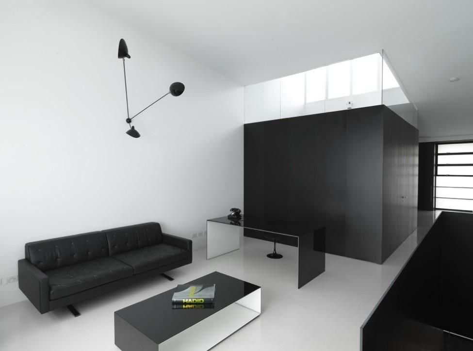 黑白简约北欧风公寓效果图