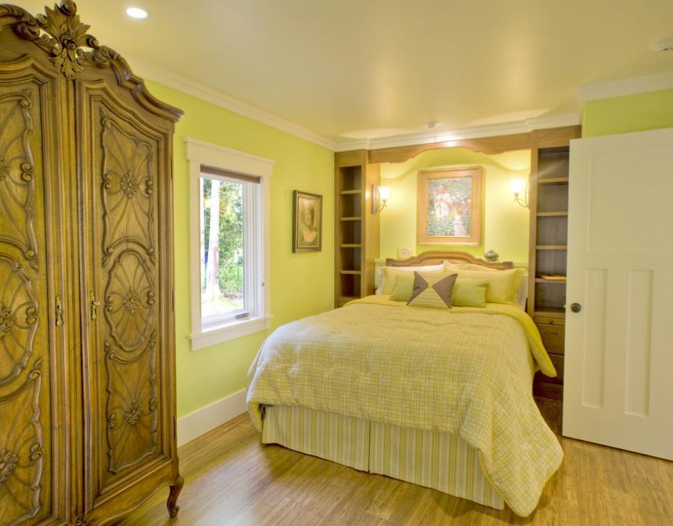 欧式黄色卧室装修效果图片