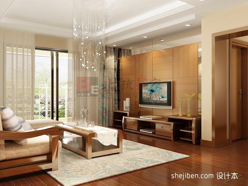 现代客厅电视墙装修设计