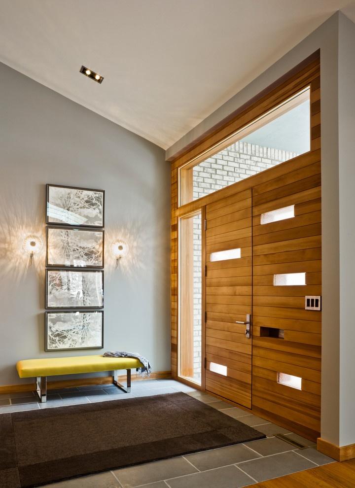装修效果图 装修美图 时尚家装客厅背景墙隐形门设计案例图