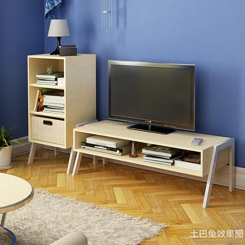 客厅实木茶几电视柜图片