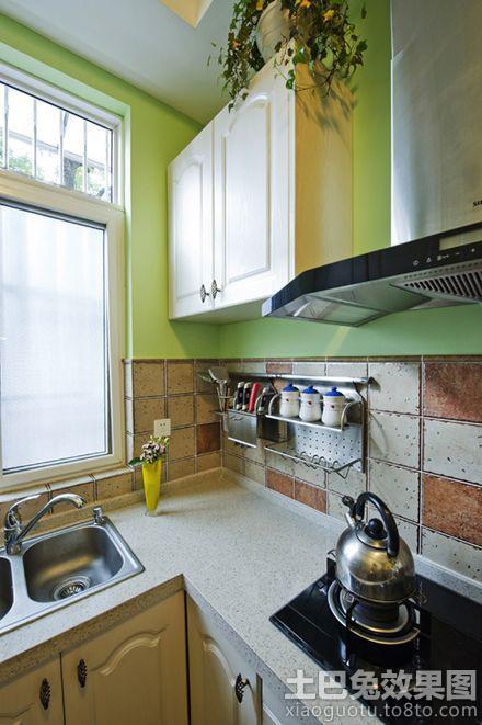 小清新厨房橱柜门效果图