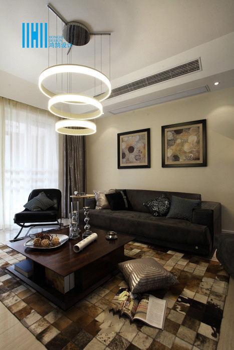 100平方现代家装两室两厅户型设计效果图