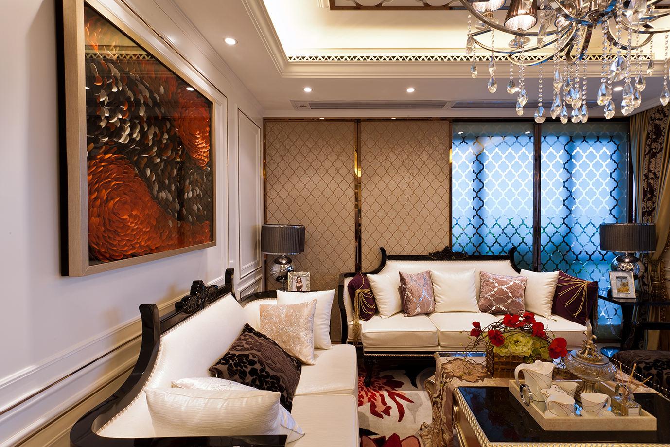 新古典客廳軟裝設計