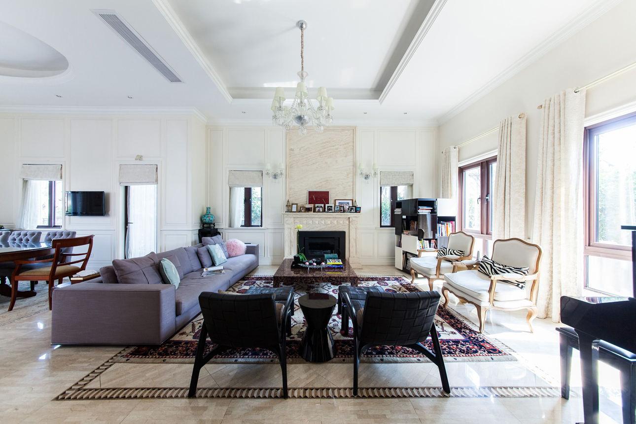 美式風格別墅客廳效果圖