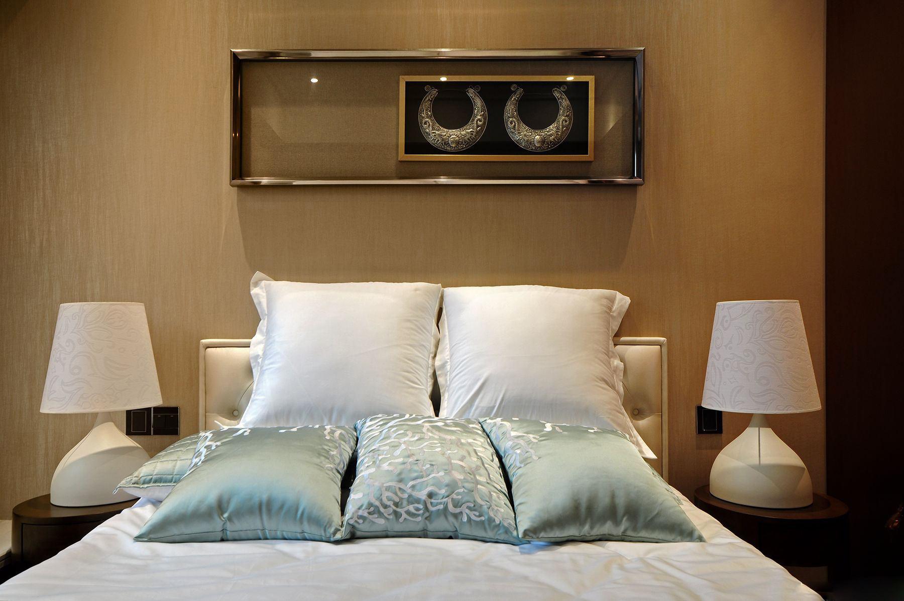 東南亞風格 臥室床頭臺燈設計