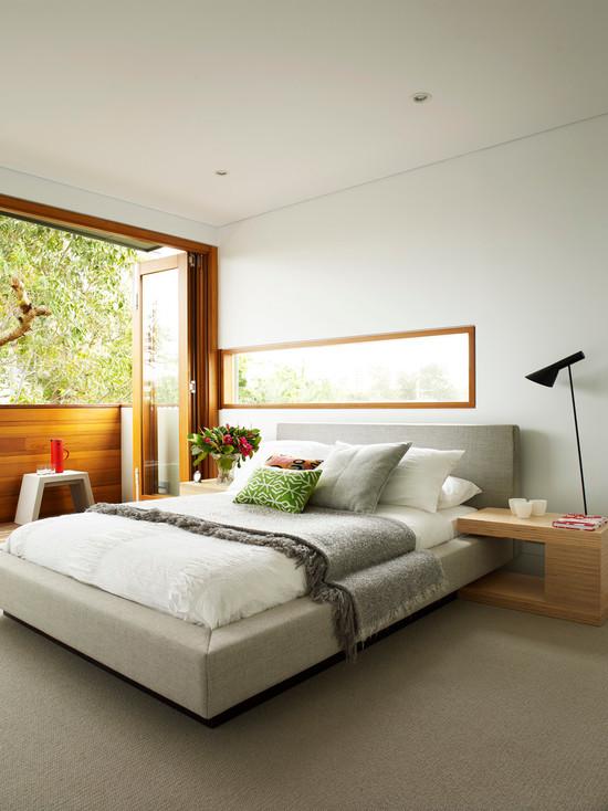 时尚现代卧室折叠门隔断设计_装修百科