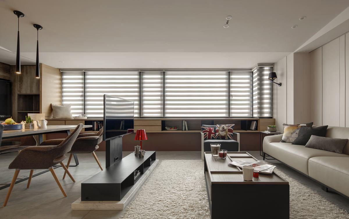 咖色系現代工業風躍層裝飾設計