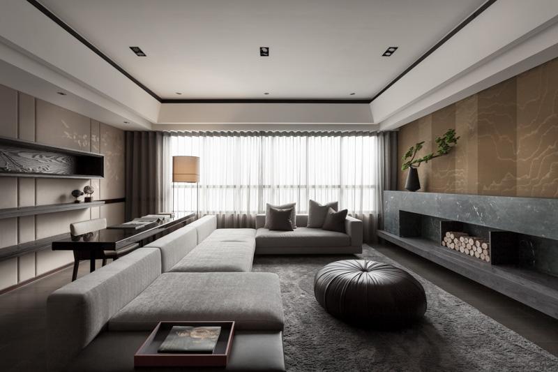 日式风格客厅吊顶设计