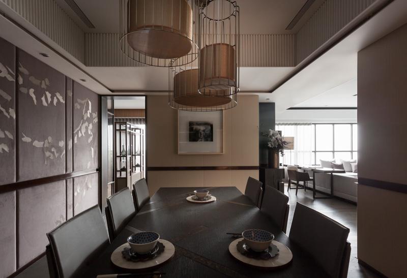 淡雅日式風格三居餐廳布置