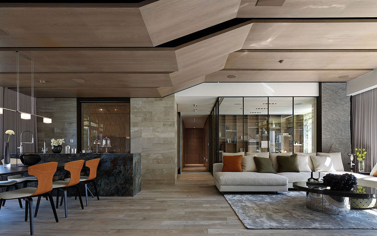 水泥质感打造138平现代混搭风公寓