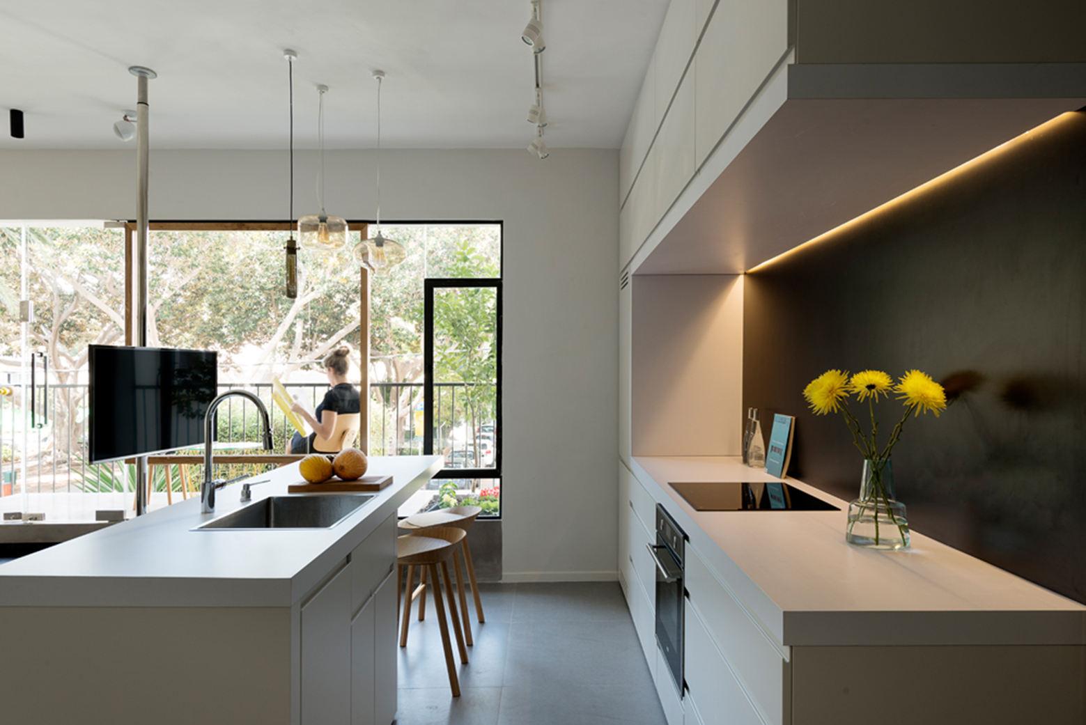 美式现代风厨房装修效果图