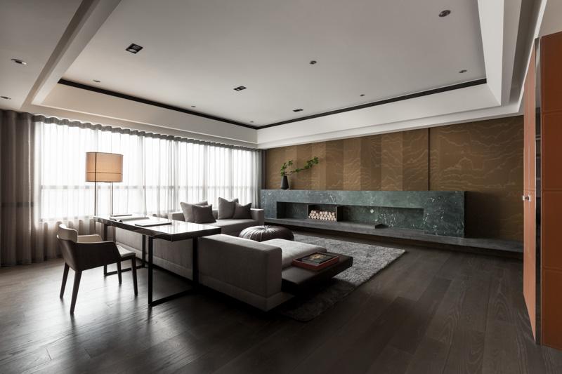 現代日式公寓客廳裝修展示
