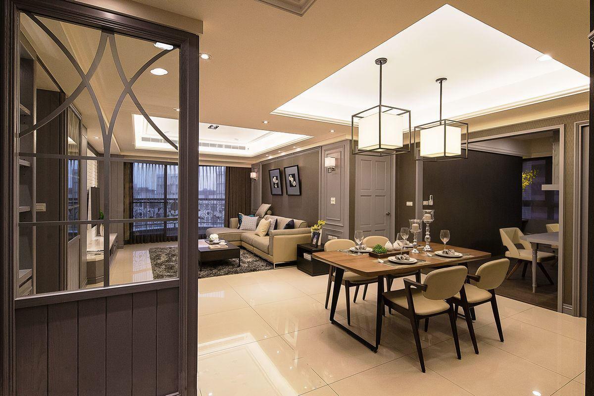 现代110平三居室内装饰设计