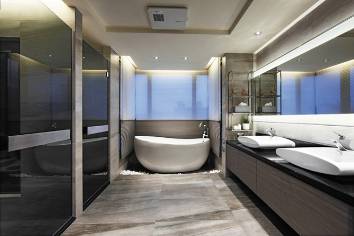 時尚現代簡約衛生間設計