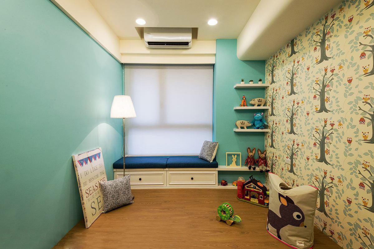 清新現代兒童房飄窗設計