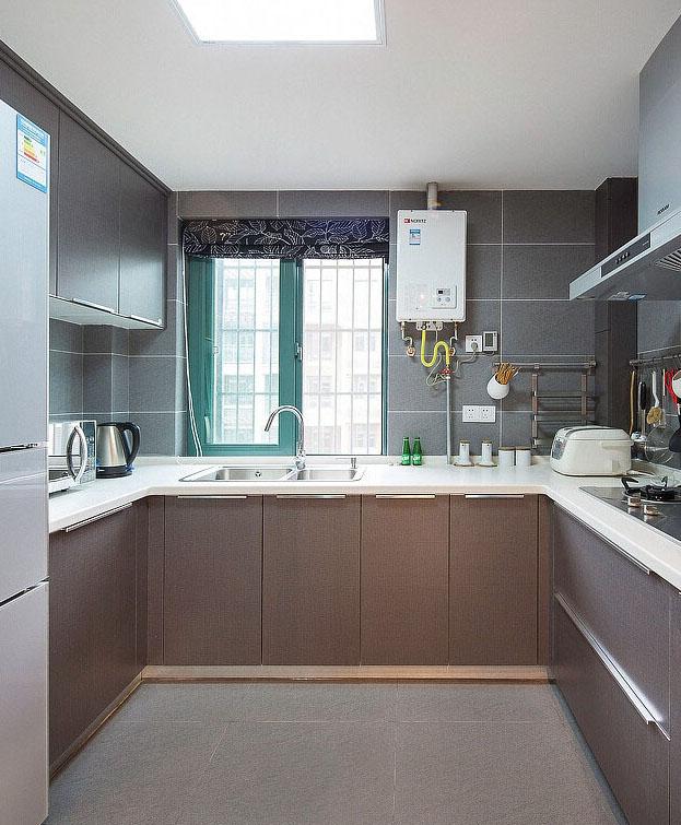 簡約小戶型U型廚房效果圖